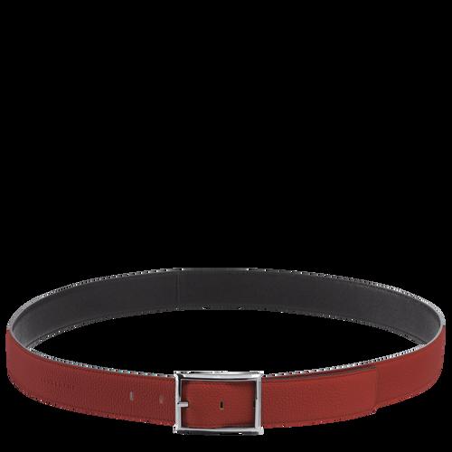 Men's belt, Brick/Black, hi-res - View 1 of 1