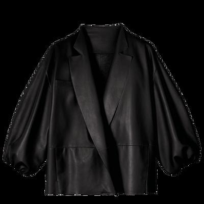 Kimono vest, Black, hi-res