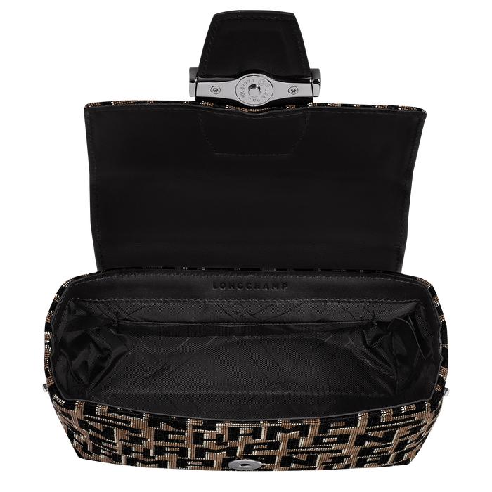 Roseau Crossbody bag XS, Taupe/Black