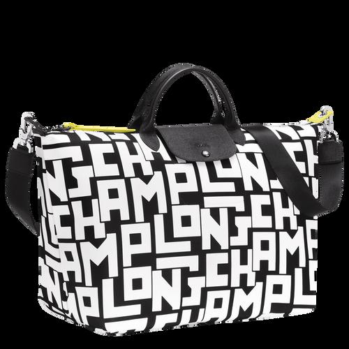 旅行袋 L, 黑/白色 - 查看 2 3 -