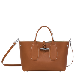 Top handle bag M, 504 Cognac, hi-res