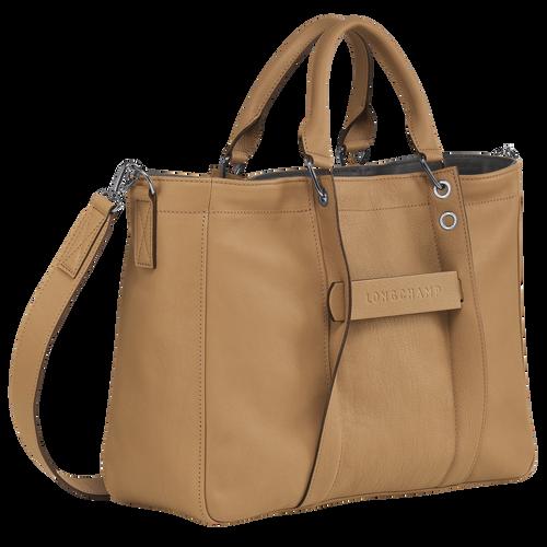 Longchamp 3D Top handle bag M, Cumin