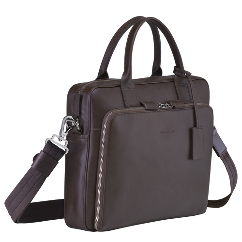 Briefcase S, Mocha - View 2 of  3 -