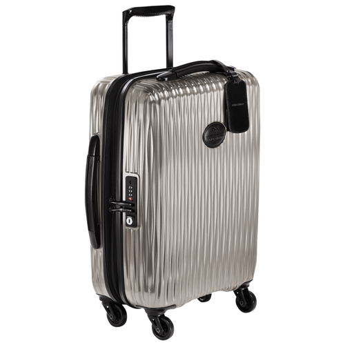 Small wheeled suitcase, Grey, hi-res - View 2 of 3