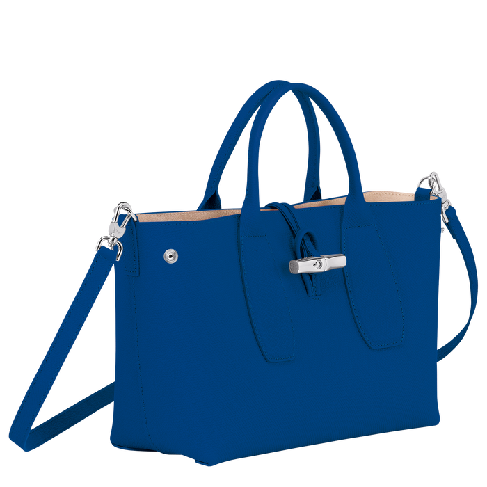 Top handle bag M, Blue - View 3 of  4 - zoom in