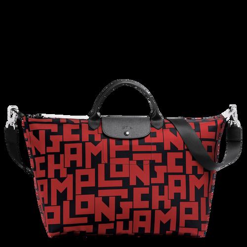 Travel bag L, C09 Black/Brick, hi-res