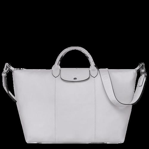 Travel bag L Le Pliage Cuir Grey (L1624757263) | Longchamp DK