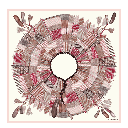 Silk Scarf, P13 Antique Pink, hi-res