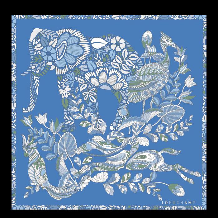 2021 가을겨울 컬렉션 실크 스카프, 블루
