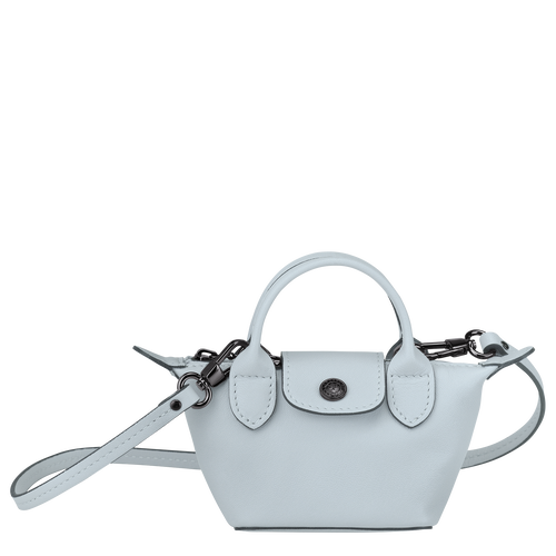 Crossbody bag XS Le Pliage Cuir Sky Blue (10099757028) | Longchamp US