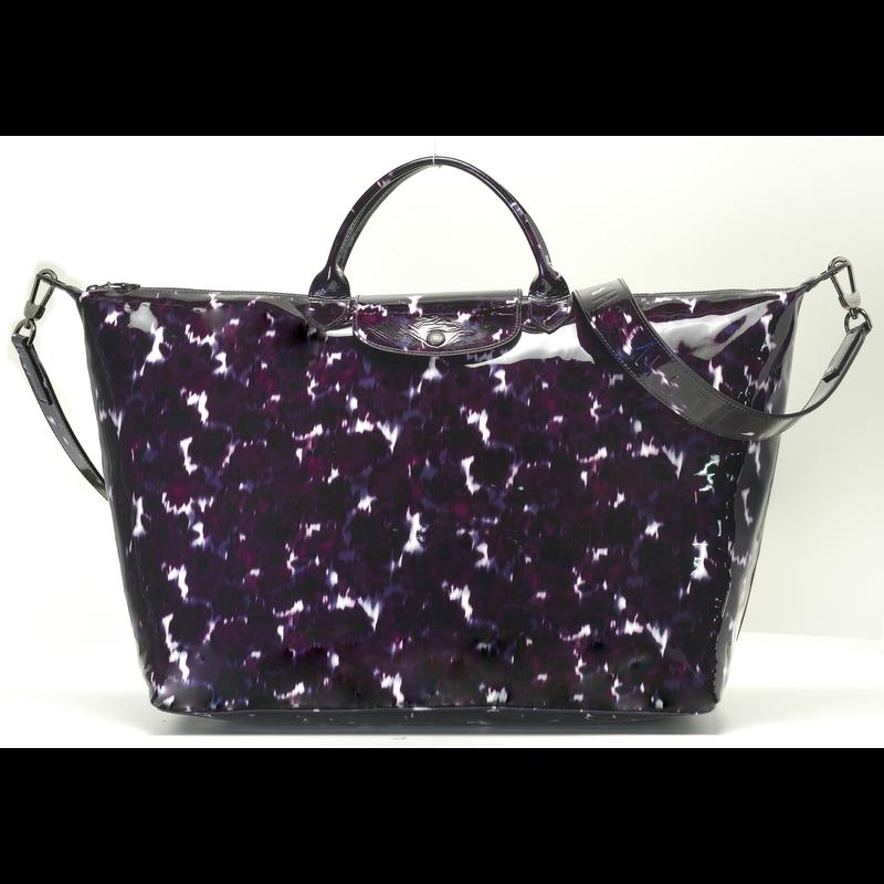 Le Pliage Cuir Travel bag L, Bilberry