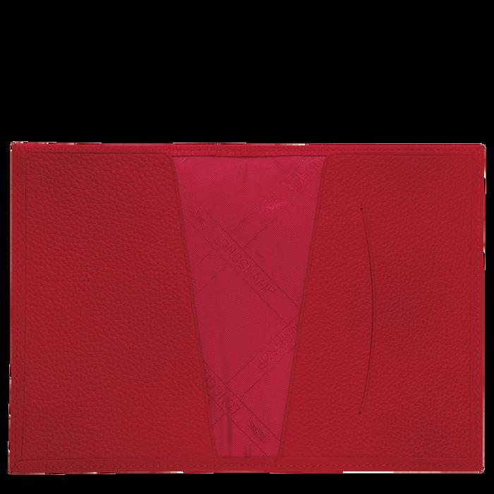 Le Foulonné Reisepass-Etui, Rot