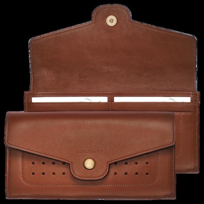 Mademoiselle Longchamp Long continental wallet, Cognac