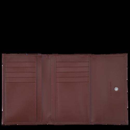 Portefeuille compact, Acajou - Vue 2 de 2 -