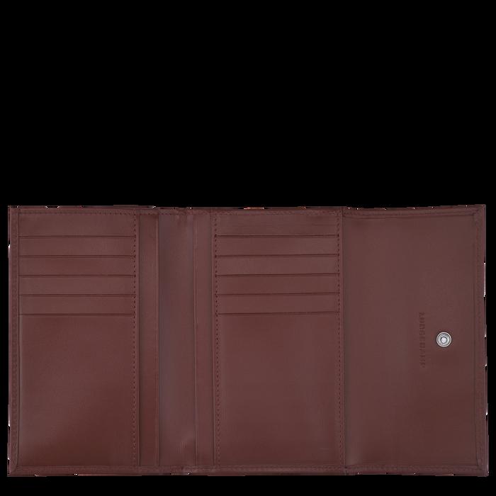 Portefeuille compact, Acajou - Vue 2 de 2 - agrandir le zoom