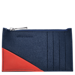 Coin purse, 995 Navy/Orange, hi-res
