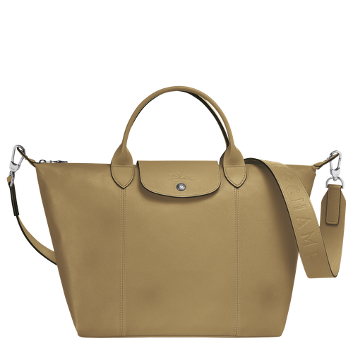 Top handle bag M, Khaki - View 1 of  3 -