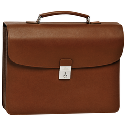Briefcase L, 504 Cognac, hi-res
