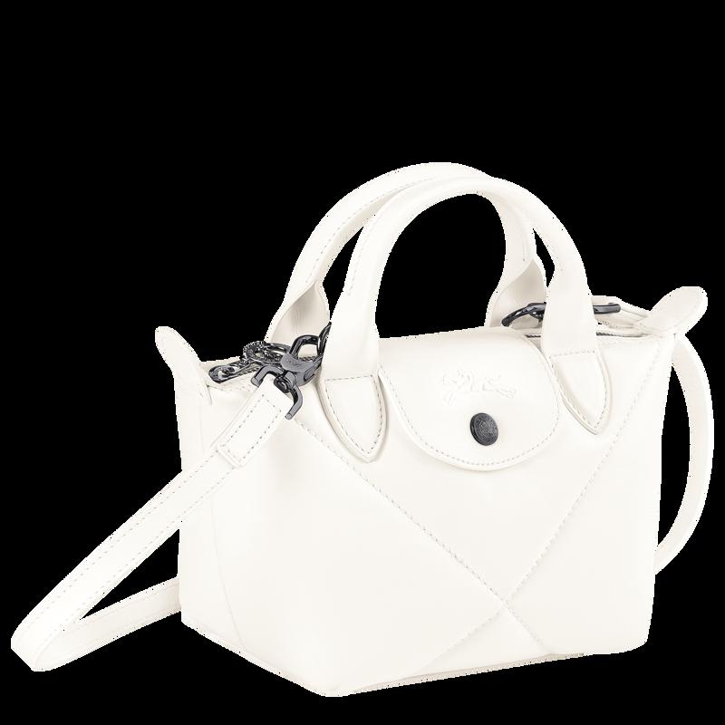 Le Pliage Cuir Top handle bag XS, Ivory