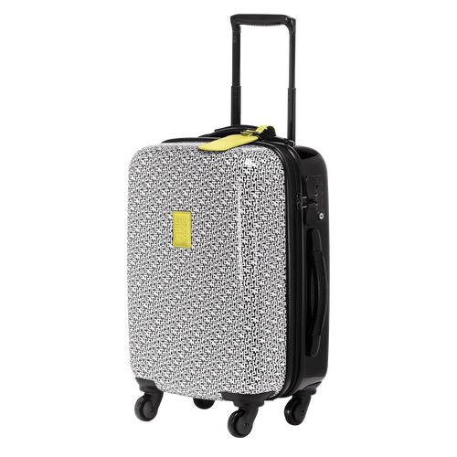 Small wheeled suitcase, Black/White, hi-res - View 2 of 3