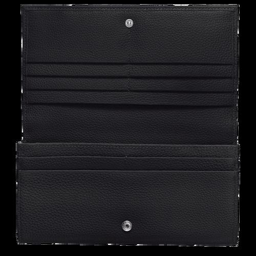 Lange continentale portemonnee, Zwart - Weergave 2 van  3 -