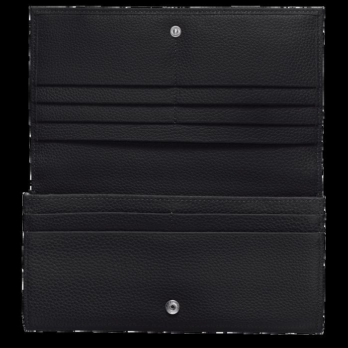 Lange continentale portemonnee, Zwart - Weergave 2 van  3 - Meer inzoomen.