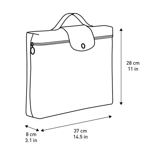 서류가방 S, 블랙 / 에보니 - 5 이미지 보기 5 -