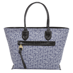 Top handle bag L, Blue