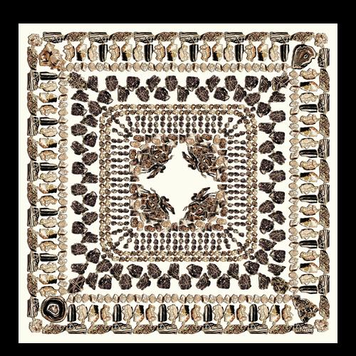 Silk scarf, 001 Black, hi-res