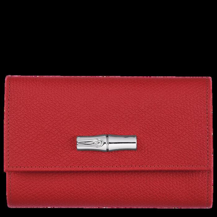 Brieftasche im Kompaktformat, Rot - Ansicht 1 von 2 - Zoom vergrößern