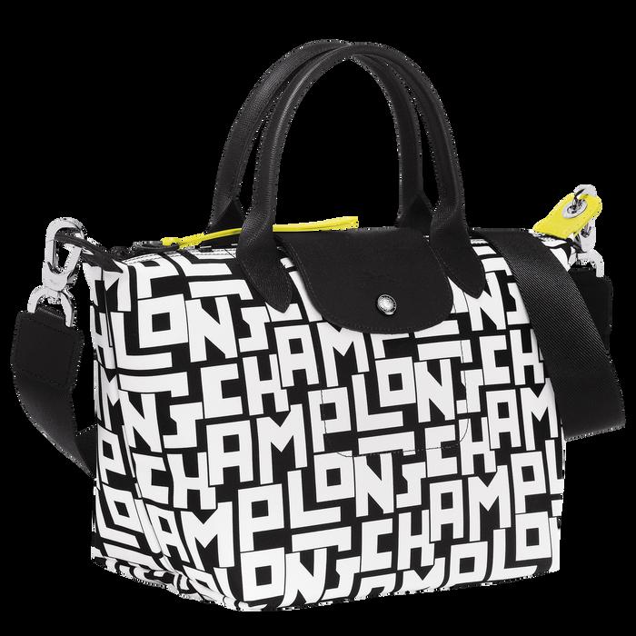 Le Pliage Collection Top handle bag S, Black/White