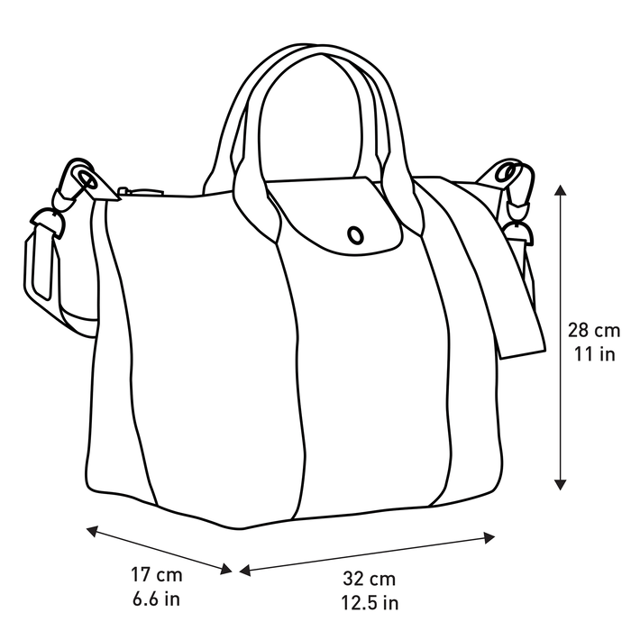 Top handle bag M, Black - View 5 of  5 - zoom in