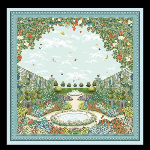 2021 秋冬系列 絲質圍巾, 鼠尾草綠色