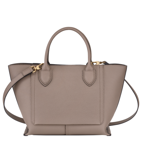 Top handle bag M, Taupe - View 3 of  4 -