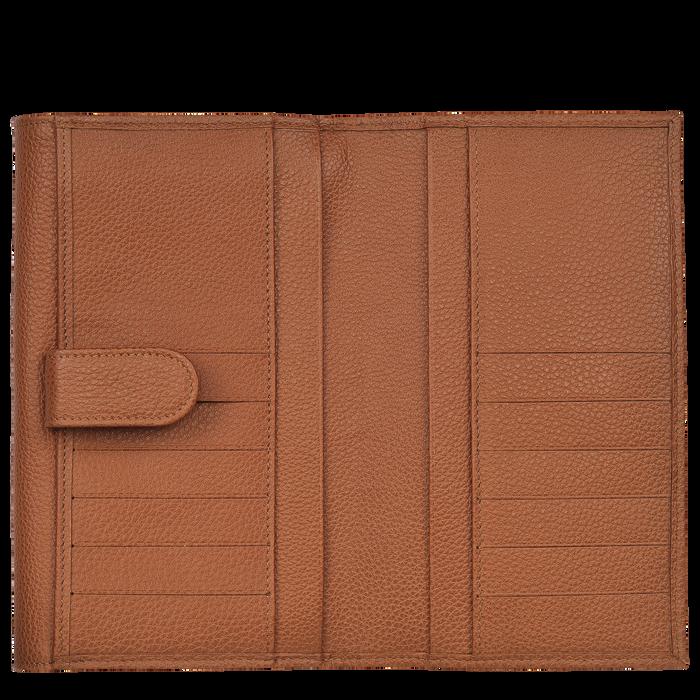 Le Foulonné Long continental wallet, Caramel