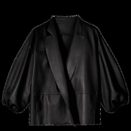 Vue 2 de Veste kimono, Noir, hi-res