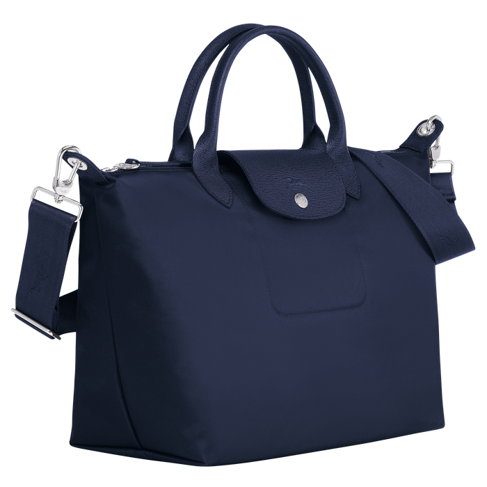Top handle bag M, Navy - View 2 of  5 - zoom in