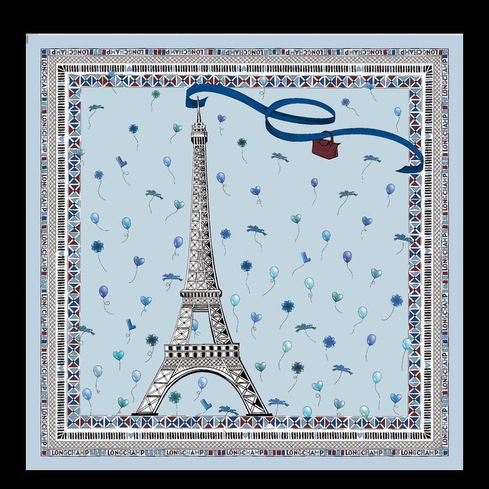 2021 봄/여름 컬렉션 실크 스카프, 스카이 블루