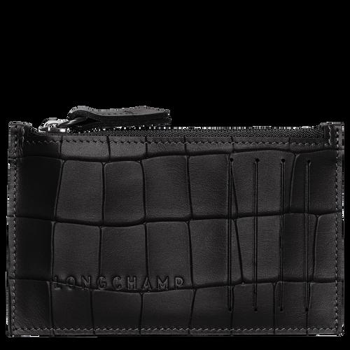 Croco Block Coin purse, Black