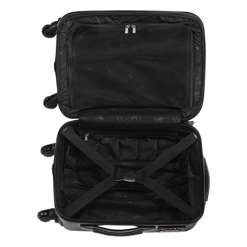 Small wheeled suitcase, Black/White, hi-res - View 3 of 3