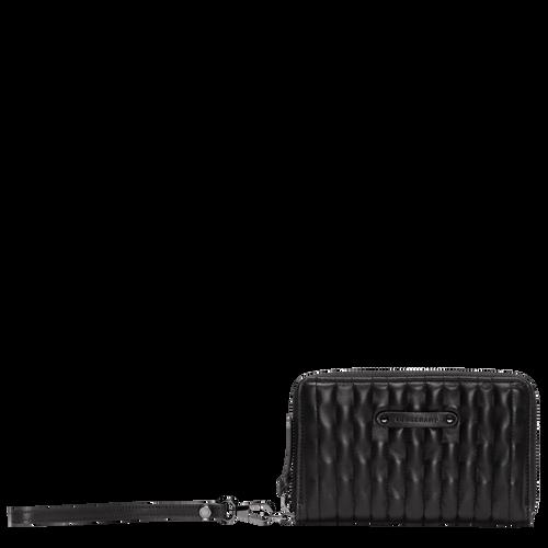 Brieftasche im Kompaktformat, Schwarz - Ansicht 1 von 2 -