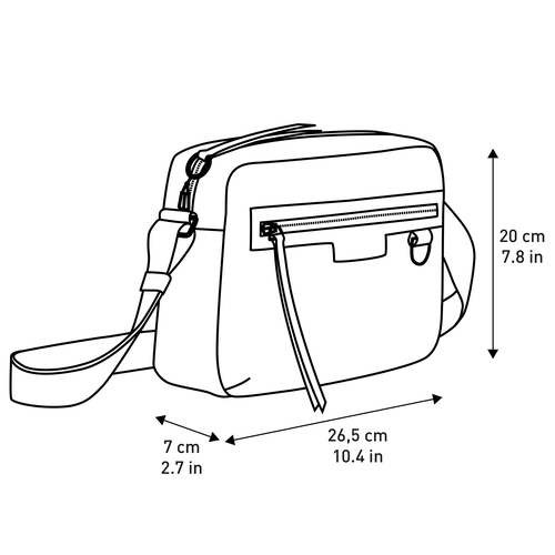 Crossbody bag M, Black/White, hi-res - View 4 of 4