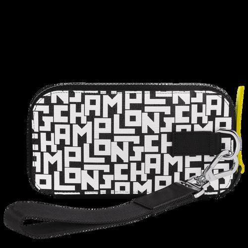 Long zip around wallet, Black/White, hi-res - View 3 of 3