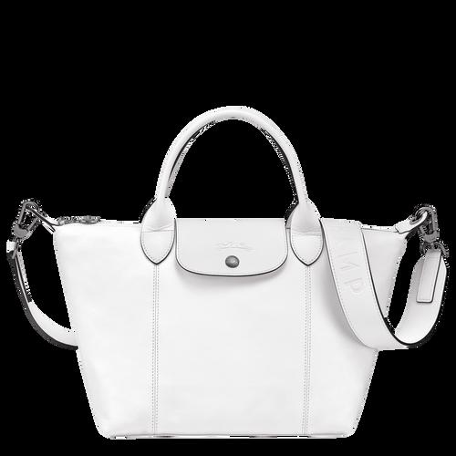 Sac porté main Le Pliage Cuir Blanc (L1512757007) | Longchamp FR