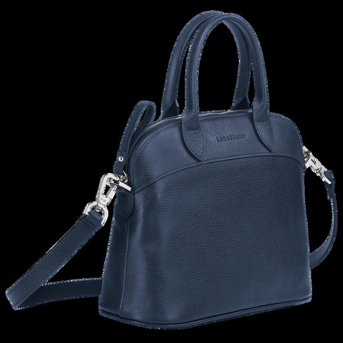 Le Foulonné Top handle bag S, Navy