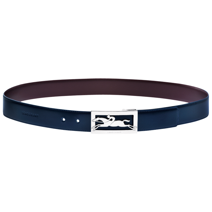Men's belt, Navy/Burgundy, hi-res - View 1 of 1