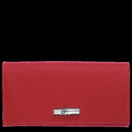 Lange Geldbörse mit Überschlag, Rot - Ansicht 1 von 2 -