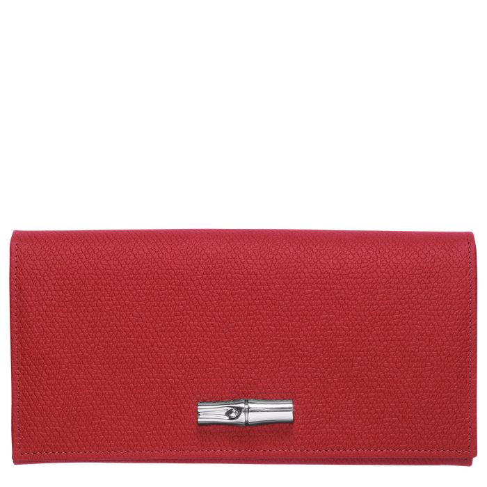 Lange Geldbörse mit Überschlag, Rot - Ansicht 1 von 2 - Zoom vergrößern