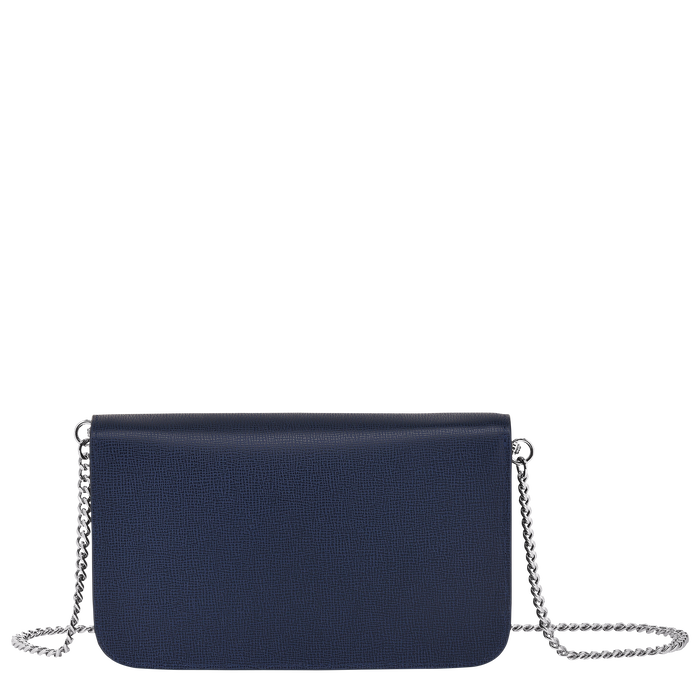 Le Pliage Néo Wallet on chain, Navy