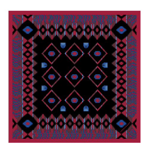 Silk scarf, E78 Brandy, hi-res